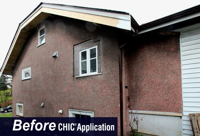 Rock Stucco Before CHIC Advanced Coating